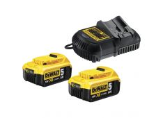 BATTERY KIT 18V XR 2 x 5.0Ah + DCB115 Dewalt DCB115P2