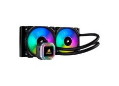 Corsair Hydro Series H115i RGB PLATINUM Liquid CPU Cooler, an all-in-one liquid CPU cooler with a 280mm radiator and vivid RGB lighting that's built for extreme CPU cooling. Cooling Socket Support Intel 115x, Intel 2011/2066, AMD AM3/AM2, AMD AM4