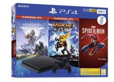 Playstation PS4 500GB set + Spiderman/HZD CE/R&C