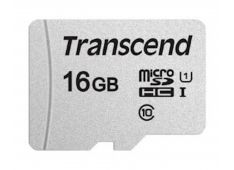 SDHC TRANSCEND MICRO 16GB 300S, 95/45MB/s, C10, UHS-I Speed Class 1 (U1) - TS16GUSD300S - 760557841043