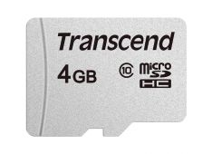 SDHC TRANSCEND MICRO 4GB 300S, 95/45MB/s, C10, UHS-I Speed Class 1 (U1) - TS4GUSD300S - 760557842781