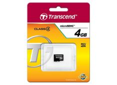 SDHC TRANSCEND MICRO 4GB C4, SD 2.0, Speed Class 4 - TS4GUSDC4 - 760557819080