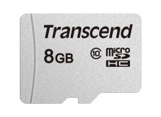 SDHC TRANSCEND MICRO 8GB 300S, 95/45MB/s, C10, UHS-I Speed Class 1 (U1) - TS8GUSD300S - 760557842798